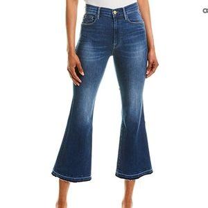 Frame Le Crop Flare Raw Hem Jeans